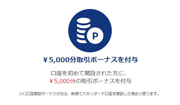 is6comの口座開設ボーナス5,000円