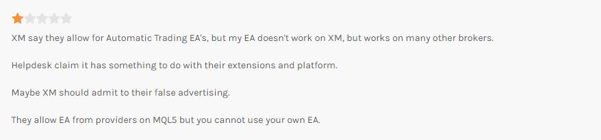 FPAに投稿されたXMに対するクレームの口コミ