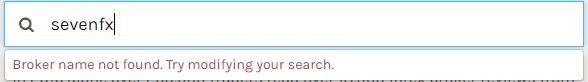 sevenfxはFPAで検索できなくなっていた