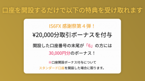is6fxの最大3万円ボーナス